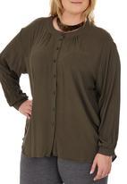 edit - Oversized Shirt Dark Green