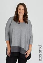 STYLE REPUBLIC PLUS - Colourblock Tunic Grey
