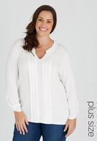 edit Plus - Pleat Knit Shirt Milk
