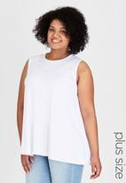 edit Plus - Swing Tank Top White