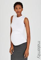 edit Maternity - High-Neck Top White