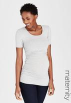 Cherry Melon - Side Gauge Short Sleeve T-shirt Grey