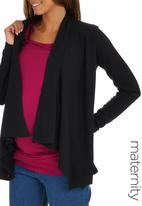 edit Maternity - Waterfall Cardigan Black