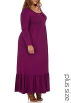 edit Plus - Boho Maxi Dress Dark Pink