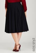 STYLE REPUBLIC PLUS - Denim Pleat Skirt Black