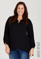 edit Plus - Layered Shirt Black