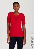 Cherry Melon - Feminine Top Red