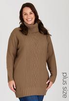 edit Plus - Shelly Upstyle Dress Beige