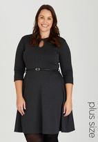 edit Plus - Keyhole Dress Mid Grey