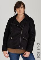 STYLE REPUBLIC PLUS - Biker Jacket Black