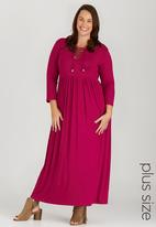 edit Plus - Maxi Dress with Tie Detail Mid Pink