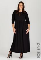 edit Plus - Maxi Dress with Tie Detail Black