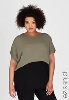 ME - Carmen Box T-shirt Khaki Green