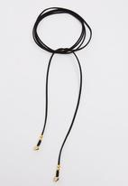 Lacey Luck - Suede Wrap Choker with Arrow Detail Black