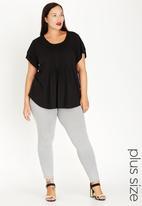 edit Plus - Pleat Front Blouse Black