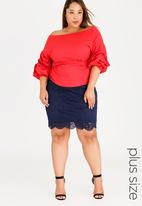 edit Plus - Lace Skirt Navy