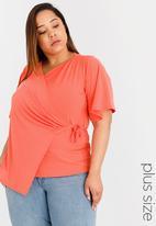 edit Plus - Wrap Top Orange