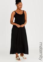 edit Maternity - Maxi Dress with Overlay Black
