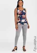 edit Maternity - Knit Joggers with Shirring Elastic Waist Black