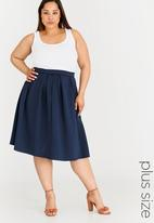 STYLE REPUBLIC PLUS - Box Pleat Skirt Navy