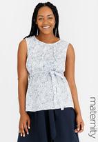 edit Maternity - Sleeveless Cotton Blouse Multi-colour