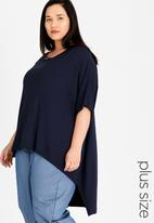 Slick - Lee Hi Low Tunic Navy