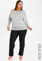 edit Plus - Comfort Fit and Flare Pants Black