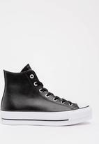 Converse - Chuck Taylor All Star Lift Clean - Hi - Black- Leather