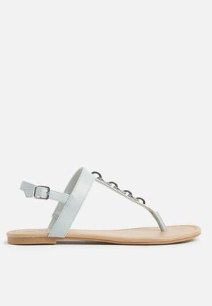 df7d5eda2a9978 Asauclya flat sandal - blue. ON SALE