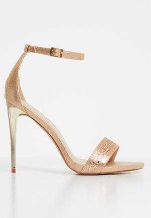 ca8a5b08594 Ankle strap heels - rose gold