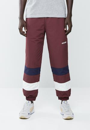 CB windbreaker pants - burgundy