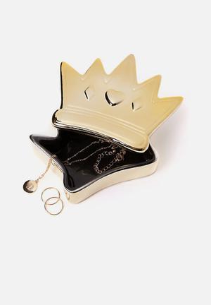 Novelty trinket box - gold