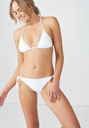 404196253c Tie side seamless cheeky bikini bottom - white