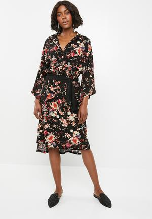 7699cff6d5d Self-tie shirt dress - floral