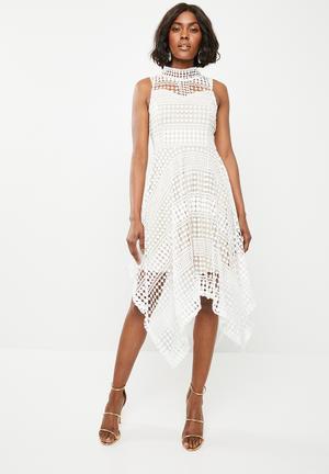 7178d04db2 Crochet halter neck dress - white