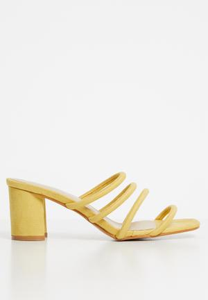 Block heel - yellow