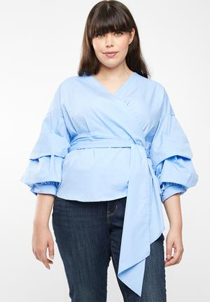 Wrap blouse - blue