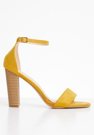 c29f71ed59bb Suri ankle strap heel - yellow