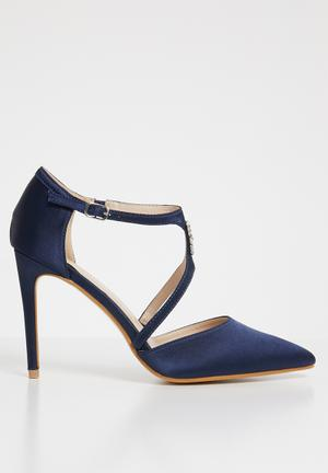 044758d0df94 Embellished cut-out courts - navy
