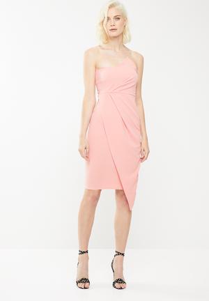 6700ab30aa3 Bandeau origami midi dress - pink