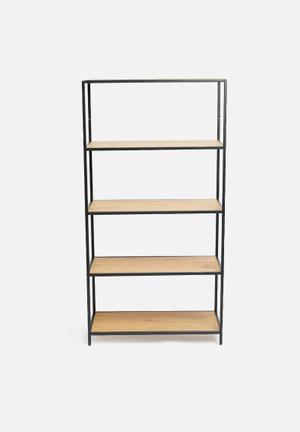Seaford bookcase- natural/black