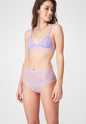 22292f3e3d Sophia lace boy-leg brief - purple