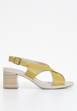 0d121b88e8a Slingback leather heel - yellow