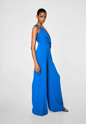 Ring wrap jumpsuit - blue