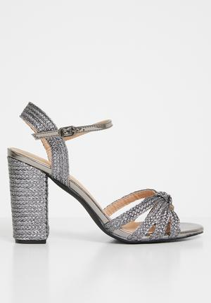 31fd8f89f3d4 ... heels - rose gold. By STYLE REPUBLIC R194 R299 -35%. Add to wishlist.  Josie woven heel - silver