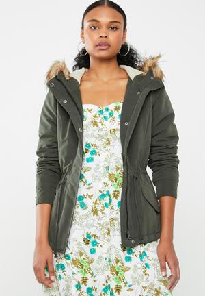 Lucca parka jacket - khaki green