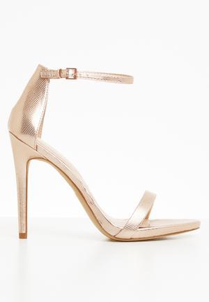 f8629787b8 Ankle strap sandal - metallic