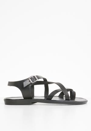 08d2dde7a90 2 Criss cross sandals - black