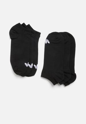 3 Pack inisex solid crew originals socks - black and white fa5fd4156