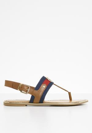 1674058e4cf07 Leather t-bar sandals - tan